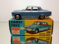 CORGI TOYS 252 ROVER 2000 - BLUE METALLIC 1:43 RARE - EXCELLENT IN BOX