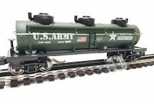 """Menards ~ 10 1/2"""" O Gauge Military US ARMY 3 Dome Tank Car MTH Lionel compatible"""