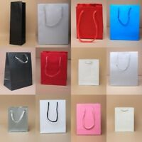 PLAIN COLOURED GIFT BAGS WITH CORD HANDLE, WHOLESALE, BULK - CHOOSE - LOT