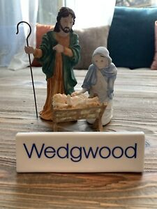 Nativity HOLY FAMILY & Shepherd Boy Coalport Wedgwood- Baby Jesus, Mary & Joseph