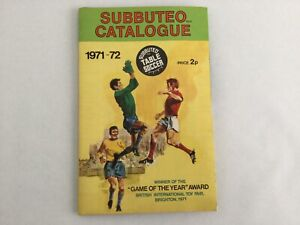 SUBBUTEO Vintage Catalogue - poster 1971-72
