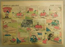 Donald Duck Sunday Page by Walt Disney from 11/23/1941 Half Page Size