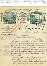 Suisse & Dépt 68 - Bâle 15 Rue Franche - Superbe Entête Gibiers & Poissons  1893
