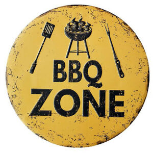 New BBQ Zone Shabby Metal Poster Wall Cafe Shop Signs Vintage Retro Tin Plaques