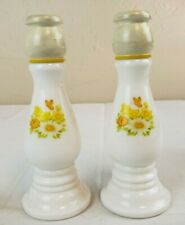 2 Candle Candlestick Holders Avon Buttercup Cologne Perfume Decanter Gl10