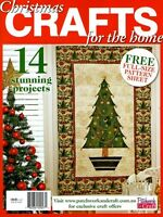 CHRISTMAS CRAFTS ISSUE  FOR THE HOME MAGAZINE.  2014. PATTERN SHEETS ATTACHED