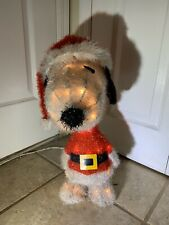 Holiday Time Light-Up Peanuts Snoopy Outdoor Christmas Decorations Yard Lawn