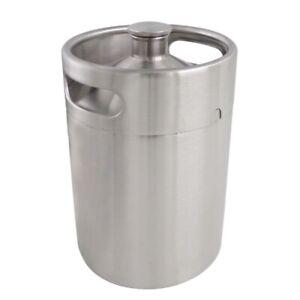 5 Liter Stainless Steel Mini Keg Growler