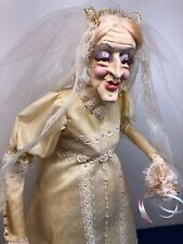 "19"" Artist Doll James R Parker ""Bride #1"" Ms. Havisham Wedding Dress Paper Clay"