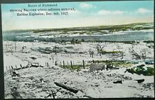 CANADA WWI PICTURE POSTCARD OF THE RUINS OF RICHMOND AFTER HALIFAX EXPLOSION