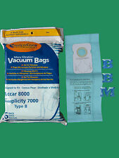 6 Type B Upright Vacuum Cleaner Bags Fit Riccar 7000 8000 Simplicity 7 Series