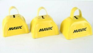 Lot of 3: RARE Mavic / Volkswagen VW Cyclocross Cow Bell YELLOW Promo Swag