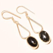 Jewelry Earring 4.10 Cm Gm-6584 Snow Flake Obsidian Gemstone Fashion