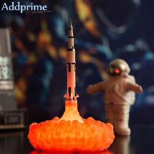 3D Print Rocket Night Light LED Desk Lamp Space Shuttle for Home Decor Gift