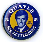 """Rare ~ """" QUAYLE FOR VICE PRESIDENT IN 1988 """" ~ 1988 Campaign Button"""