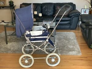 Vintage Emmaljunga Carriage Baby Stroller Bassinet Combo Sweden S-280 22 VITTSJO