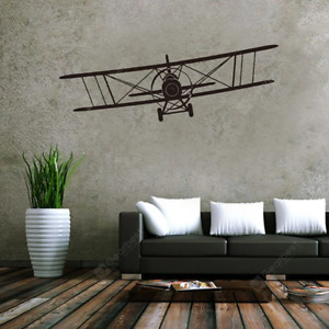 New Modern Classic Glider Airplane Style Sticker Home Office Wall Decoration