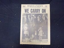 1963 NOVEMBER 26 NEW YORK DAILY NEWS - WE CARRY ON (AFTER DEATH OF JFK)- NP 2099