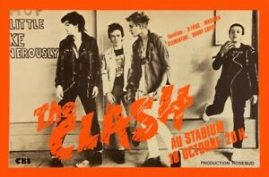 The Clash POSTER France 1978 Rare Large French