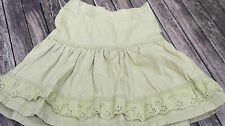 H&M Girls 100% Cotton Skirt. 6-7 Years. Broderie Anglaise Trim