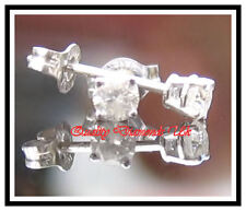0.20 CARAT REAL DIAMOND STUD EARRINGS WHITE GOLD NEW !! F G H VERY SPARKLING !!
