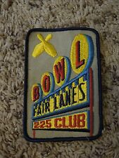Vintage Fair Lanes 225 Club Bowling Patch Embroidered with Bowling Pins