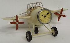 Clayre Eef Retro Uhr  Nostalgie  Shabby Flugzeug Eisen Vintage Antik 31*13*16 cm