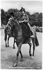 VINTAGE postcard : HER MAJESTY QUEEN ELIZABETH II RIDING A HORSE 707