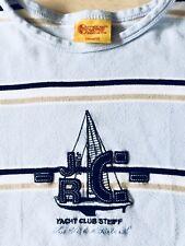 STEIFF Schlafanzug YACHT CLUB JUNIOR   hellblau-marine gestreift Größe 140/ 10
