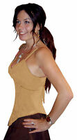 LONG POINTY LEAF BRA STRAPPI CAMI TOP 10 12 14 16 S M L XL brown red beige pink