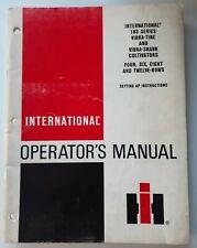 International 183 Series Vibra Tine Shank Cultivators Rows Operators Manual