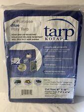 All Purpose Blue Poly Tarp, 8x12 Feet, New
