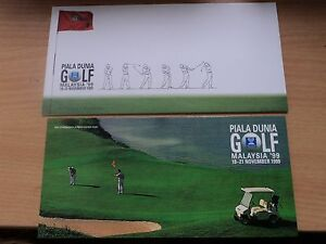 Malaysia 1999 18 Nov Presentation Pack World Cup Golf Championships, KL