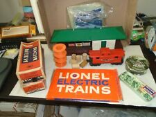MIXED LOT OF LIONEL O SCALE TRAINS, TRACK AND BUILDING