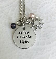 Disney inspired Rapunzel Tangled Stamped Necklace At Last I See The Light