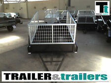 Cage Trailer 7x4 Heavy Duty 2ft Cage - New Tyres Aust Made Tough Box
