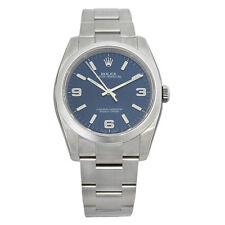 Rolex No Date Blue Arabic Index Dial Domed Bezel Mens Watch 116000BLASO