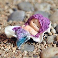 Miniature Fairy Garden Little Mermaid in Seashell