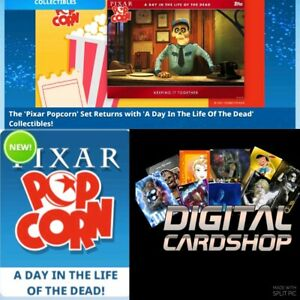 Topps Disney Collect Pixar Popcorn Day in the Life Dead Gold Red & Blue 21 Cards