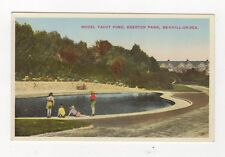 Model Yacht Pond Egerton Park Bexhill On Sea Vintage Postcard 489a