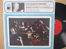 3C 053-00907- FURTWANGLER/MENUHIN-Schubert Symphony No.8/Mendelssohn Violin LP