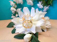 Juwelo Silberring Eismond-Quarz Topas Ring  925 Sterling Silber  Vergoldet   NEU