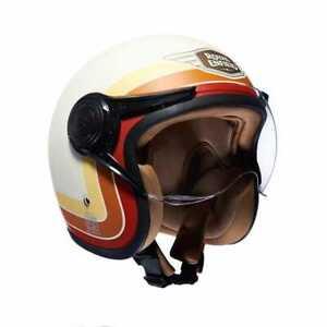 Royal Enfield Border Stripes Helmet Matt White