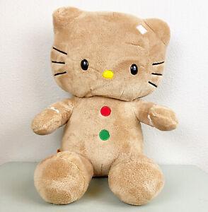 "Sanrio 2012 Hello Kitty BAB Build A Bear 20"" Christmas Gingerbread Plush Animal"