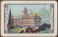 Playing Cards 1 Single Card Old LNER Railway Train Advertising Art EDINBURGH