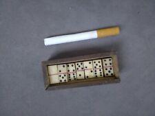 rare ancien micro-jeu de voyage  dominos en os 9 x 19 mm