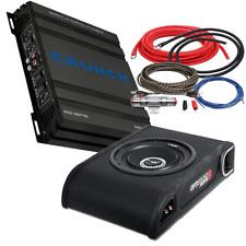 Car Hifi Paket  Crunch Bass Verstärker & Vibe Optisound Subwoofer & Kabelset