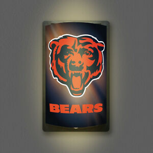 CHICAGO BEARS MOTIGLOW LIGHT UP SIGN MOTION ACTIVATED PREMIUM NFL LAMP NIGHT