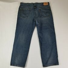 Levis Mens Jeans Size 42x30 550 Relaxed Fit Medium Wash 100% Cotton