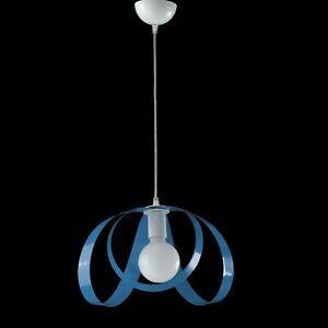 Hanging Chandelier Modern Design Oval White Blue Octopus 1 Light